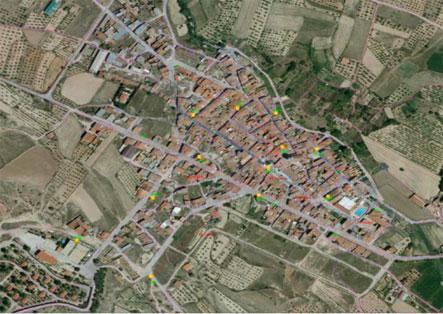 Aras de los Olmos mapa cobertura